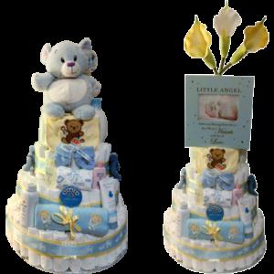 Blue Bear Diaper Cake