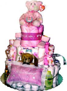Teddy Bear Diaper Cake