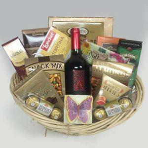 Butterfly Wine Basket Medium