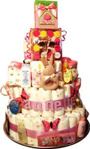 Baby Bunny Diaper Cake