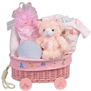 Wicker Wagon Pink