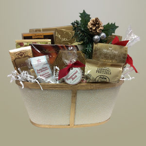 Gold Basket Holiday Treats