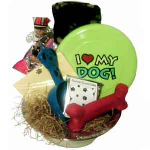 I Love My Dog Gift Basket